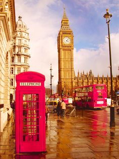 After the Rain, London, England. Big Ben on the Elizabeth Tower of the Houses of Parliament!
