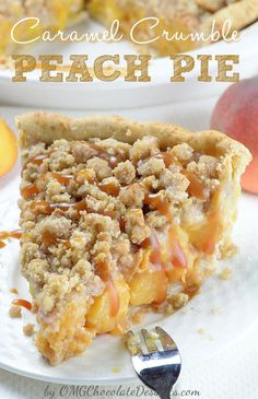 Pie recipes 366128644705481176 - Caramel Crumble Peach Pie – homemade buttery crust packed with sweet juicy peaches and salted caramel sauce, topped with brown sugar cinnamon crumbs. Source by DorindaJardi Best Peach Pie Recipe, Peach Pie Recipes, Beef Recipes, Nectarine Recipes, Recipies, Kraft Recipes, Köstliche Desserts, Chocolate Desserts, Dessert Recipes