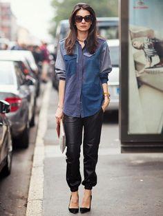 Street Style Crush: Leila Yavari via @WhoWhatWear
