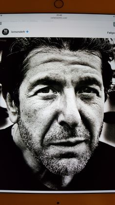 wot a shot of Leonard Cohen. Photo by Richard Dumas