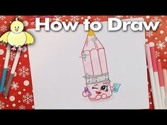 How to Draw Shopkins: Penny Pencil - Narrated Step by Step Drawing Lesson - YouTube