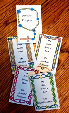 """I'm super excited to present this set of """"My Mini Rosary Books!""""  October is dedicated to the Holy Rosary. Did you know you can take a reg..."""