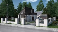 """Check out my @Behance project: """"Small Modern House"""" https://www.behance.net/gallery/43730589/Small-Modern-House"""