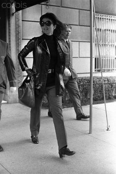 Jacqueline Kennedy Onassis leaving 1040 Fifth Avenue