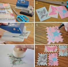 Love this!! I definitely need that stamp-shaped puncher, so I can make these <3