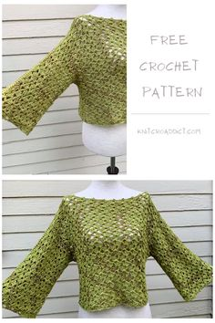 Crochet Cardigan Pattern Free Women, Blouse Pattern Free, Crochet Patterns Free Women, Crochet Headband Pattern, Crochet Blouse, Top Pattern, Knit Crochet, Tutorial Crochet, Crochet Summer Tops
