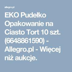 EKO Pudełko Opakowanie na Ciasto Tort 10 szt. (6648861590) - Allegro.pl - Więcej niż aukcje.