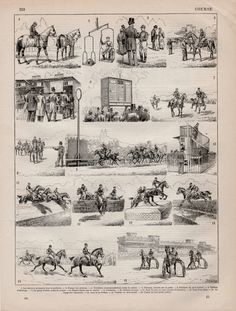 1897 Horse Racing Antique Print Vintage Lithograph by Craftissimo