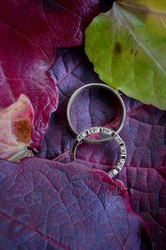 Wedding rings and Autumnal colours