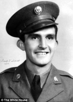 First Lieutenant Donald K. Schwab was the Commander of Company E, 15th Infantry Regiment, 3d Infantry Division, near Lure, France on September 17, 1944  Read more: http://www.dailymail.co.uk/news/article-2565258/Obama-award-Medals-Honor-24-Army-veterans-including-Hispanic-Black-Jewish-soldiers-overlooked-race-ethnicity.html#ixzz4cwCjU8am  Follow us: @MailOnline on Twitter | DailyMail on Facebook