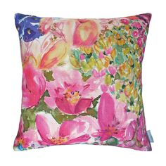 Add painterly prints to any space in the home with this Juliette cushion from Bluebellgray. Made from 100% linen, this striking cushion is adorned with a statement Bluebellgray design of painterly flo
