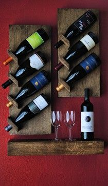 Pallet Projects Custom Floating Wine Rack contemporary wine racks Please make this! Pallet Projects, Home Projects, Woodworking Projects, Contemporary Wine Racks, Contemporary Design, Wine Storage, Wood Pallets, Barn Wood, Wood Crafts