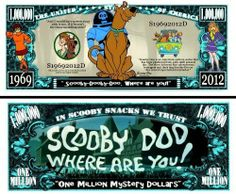Scooby Doo Million Dollar Bill (w/protector) by AAC. $2.49. Scooby Doo Million Dollar Bill