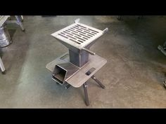 The Watchman Stove - pre-cut, DIY welding kit - YouTube