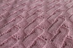 100% Cashmere Hand Knit Pink Baby Blanket