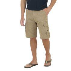 Wrangler Men's Big & Tall Cargo Shorts Light Brown - 4