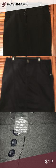 Women's black skirt Women's black skirt, AGB brand, size 14.  60% polyester,35% Rayon, 5% Spandex . Lining 100% polyester AGB Skirts