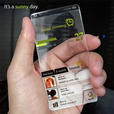 Creative cell phone design for the future.