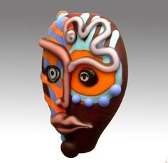 PACIENTE cara máscara grano del Aardvark por aardvarkartglass