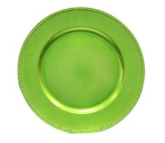 """Beaded+Round+13""""+Charger+Plates+-+Apple+GREEN"""