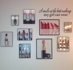 These can go in the makeup room area Vanity Room, Vanity Decor, Vanity Area, Makeup Room Decor, Makeup Rooms, Decoration Inspiration, Room Inspiration, Decor Ideas, Woman Cave