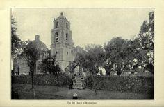 Imagen de la Iglesia de San Marcos Evangelista, ubicada en el entonces Pueblo de Mexicaltzingo. Hoy ya dentro de la Ciudad de México. Se encuentra en el cruce de la Calzada Ermita-Ixtapalapa casi Esq. Calz. de la Viga. Foto tomada probablemente a principios del siglo XX.