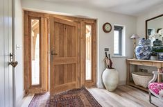 Sheila and Geoff McGaughey have built a stunning single-storey oak-framed home fit for their retirement Old Cottage, Cottage Style, Dormer Bungalow, Border Oak, Oak Framed Buildings, Oak Front Door, Structural Insulated Panels, Storey Homes, Building A New Home