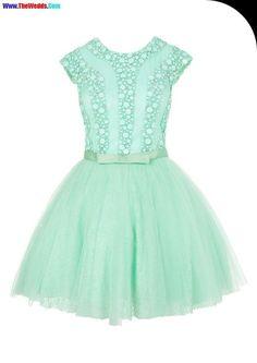 belle mint green prom dress