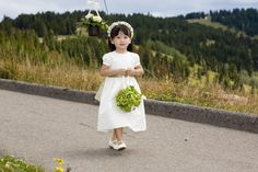 Sweet flower girl making her way to the Vail wedding deck.  Planning by www.IDoWeddingServices.com