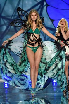 9cb086251f If we could get married in wings    Gigi Hadid for Victoria s Secret  Fashion Show