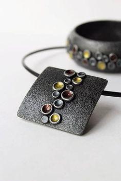 Polymer Clay Pendant Bracelet Jewelry Set Round Silver Clay Beads, Polymer Clay Bracelet, Polymer Clay Pendant, Polymer Clay Art, Pendant Jewelry, Jewelry Sets, Beaded Jewelry, Beaded Necklace, Clay Design