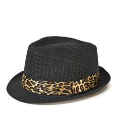 d49e9f84a02 Black Leopard Weave Fedora by Magid  zulilyfinds Cute Hats