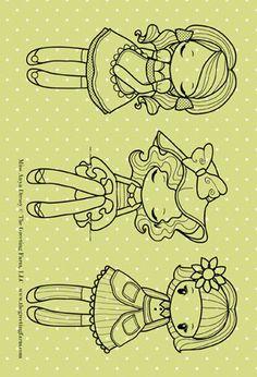 The Greeting Farm Miss Anya Dressy Rubber Stamp Set