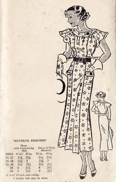 1930s Misses Princess Dress