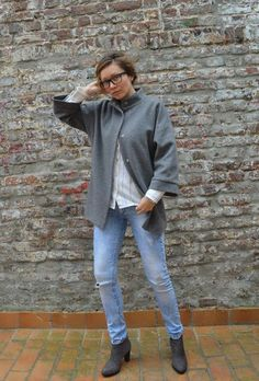 Sivi kaput/Oversized coat