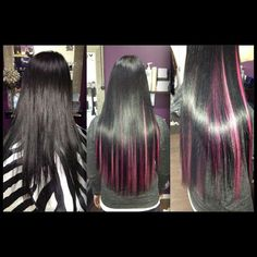 Pink hair streaks. Not so much for the colour but the arrangement