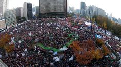 Hundreds of thousands are walking the streets of Seoul in the latest protest against South Korean President Park Geun-hye, who has come under fire for allowing her close confidante to have too much influence over her government policies