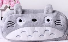 HABA Totoro Cute Plush Pencil/Pen Bag Pouch Brand new and high quality canvas material. My neighbor totoro plush pen pencil bag pouch case. Pendant cosmetic and beauty pouch bag case coin purse wallet bag. Cute Pencil Pouches, Pencil Bags, Coin Purse Wallet, Pouch Bag, Lolita Anime, My Neighbour Totoro, Pochette Portable, Kids Storage, Office Storage