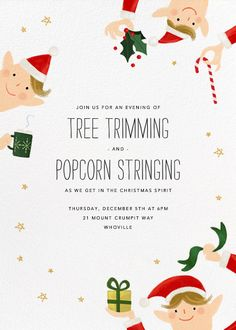 Little Elves by Paperless Post. Send custom online holiday party invitations with our easy-to-use design tools and RSVP tracking. View more holiday invitations on paperlesspost.com. #christmas #elf #elves #xmas #elves