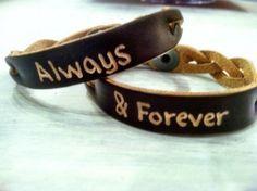 I wanna get bracelets for me and nate :) <3