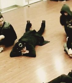 "one pinner said: ""Sleepy yixing using chanyeol's backside as his pillow."" i feel Chanyeol's pain"