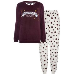 Harry Potter Star Fleece Pyjama Set ❤ liked on Polyvore featuring intimates and fleece pajama set
