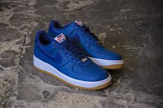 NIKE AIR FORCE 1 (BLUE LEGEND/WHITE/GUM) | Sneaker Freaker