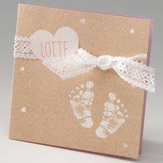 Voetjes en een hart - Geboortekaartje :: Belarto