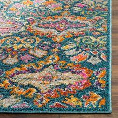 SAFAVIEH Madison Sumayya Boho Floral Damask Rug