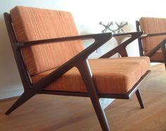poul jensen selig z lounge chairs pair walnut danish modern mid century eames ebay