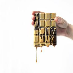 The Goat Bar. Salted goat's milk caramel, caramelized white and dark chocolate. By Pastry Chef & Artist Chris Ford.