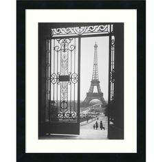 Gall 'The Eiffel Tower From The Trocadero 1925' Framed Art Print