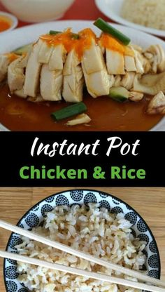 Hainanese Chicken and Rice is a simple but delicious dish famous in Singapore. This Instant Pot Chicken and Rice recipe makes it easy to make at home. Poached Chicken, Grilled Chicken, Hainanese Chicken, Chicken Rice, Asian Chicken, Pressure Cooker Chicken, My Best Recipe, Stuffed Whole Chicken, Yummy Food