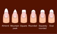 Nail chart. I prefer almond shaped